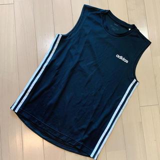 アディダス(adidas)のadidas サイドライン  ノースリーブ  トップス(カットソー(半袖/袖なし))