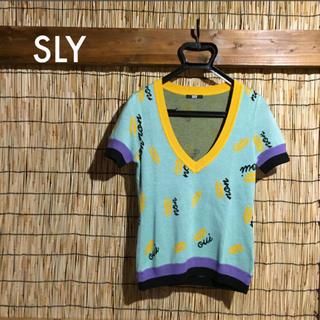 スライ(SLY)の☆SLY☆サマーニット☆半袖ニット☆(Tシャツ/カットソー(半袖/袖なし))