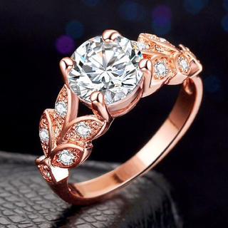 特A品 新品 11号 花の雫 ダイヤモンド ピンクゴールドリング レディース(リング(指輪))