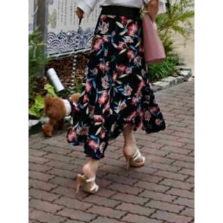 レディメイド(LADY MADE)のLADYMADE フラワーフレアスカート(ロングスカート)