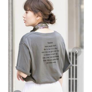 アーバンリサーチ(URBAN RESEARCH)のweb限定  バックプリントルーズTシャツ(Tシャツ(半袖/袖なし))