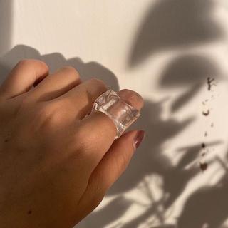 カスタネ(Kastane)のAcrylic irregular Ice cube ring ♡ 韓国(リング(指輪))