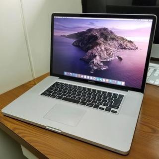 マック(MAC)の超美品 Macbook Pro 17インチ i7/8GB/SSD128GB(ノートPC)