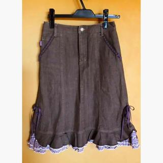 ピンクハウス(PINK HOUSE)のスカート/PINK HOUSEカラーデニムスカート(ひざ丈スカート)