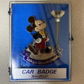 Disney - ミッキーマウス カーバッジ