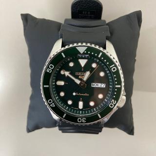 セイコー(SEIKO)のセイコー4R36自動巻腕時計 グリーン文字盤(腕時計(アナログ))