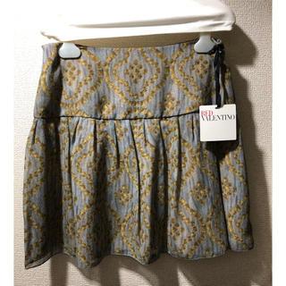 レッドヴァレンティノ(RED VALENTINO)の新品未使用 REDVALENTINO スカート シルク100%サイズ40(ミニスカート)