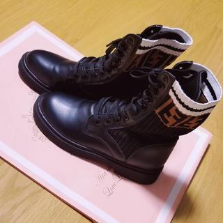 フェンディ(FENDI)のレディース♥ソックスブーツ(ブーツ)