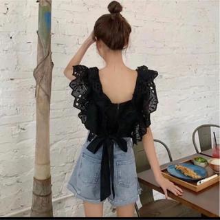 アリシアスタン(ALEXIA STAM)の韓国ファッション ノースリーブ フリル(シャツ/ブラウス(半袖/袖なし))