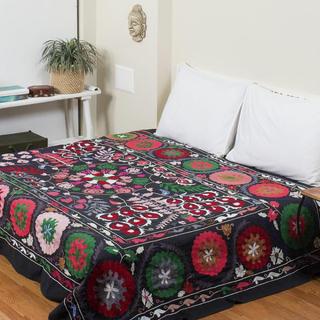 ウズベキスタン スザンニ スザニ 手刺繍 アジアン ベッドカバー 刺し子(ソファカバー)