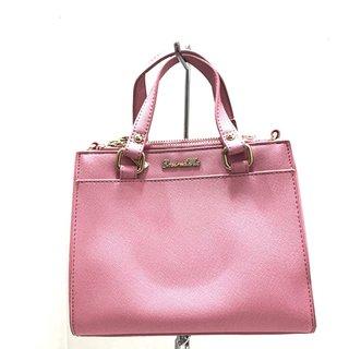 エミリアウィズ(EmiriaWiz)のエミリアウィズ ハンドバッグ ピンク 合皮(ハンドバッグ)