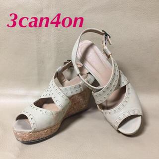 サンカンシオン(3can4on)の【used】★3can4on★サンダル コルクサンダル ベージュ 23.5(サンダル)