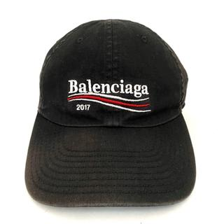 バレンシアガ(Balenciaga)のバレンシアガ キャップ L 黒×白×レッド(キャップ)