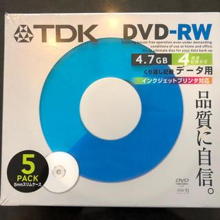ティーディーケイ(TDK)の新品・未開封 TDK DVD-RW 5パック/5mmスリムケース❗️(その他)