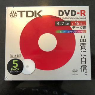 ティーディーケイ(TDK)の新品 未開封 TDK DVD-R 5パック/5mmスリムケース付【日本製】(その他)