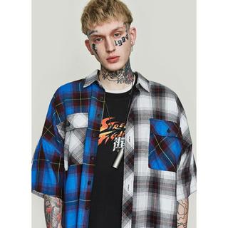 ディーホリック(dholic)のLazy Tokyo 半袖チェックシャツ(シャツ)