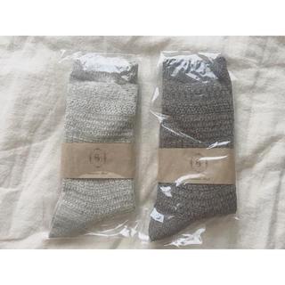 サマンサモスモス(SM2)の今季完売 SM2 シルク混 ソックス 綿 靴下 ナチュラル 2足セット(ソックス)