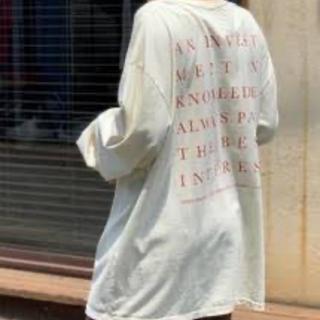 トゥデイフル(TODAYFUL)のtodayful    バッグプリントtee(Tシャツ(長袖/七分))