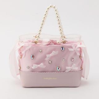 ロディスポット(LODISPOTTO)のmille fille closet Pink glow クリアバッグピンク(ハンドバッグ)