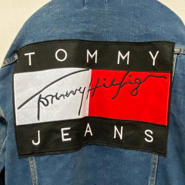 TOMMY HILFIGER(トミーヒルフィガー)の90sオールド トミーヒルフィガー ビッグフラッグ デニムジャケット ジージャン メンズのジャケット/アウター(Gジャン/デニムジャケット)の商品写真