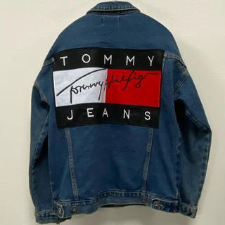 トミーヒルフィガー(TOMMY HILFIGER)の90sオールド トミーヒルフィガー ビッグフラッグ デニムジャケット ジージャン(Gジャン/デニムジャケット)