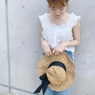 フラワー(flower)の麦わら帽子 (麦わら帽子/ストローハット)