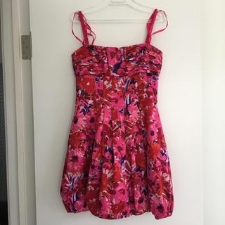 ビーシービージーマックスアズリア(BCBGMAXAZRIA)のBCBG バルーン ドレス 2 美品 ワンピース(ミニワンピース)
