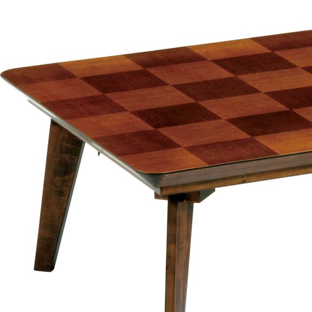 新作こたつ 市松模様 タモ 幅120cm インテリア/住まい/日用品の机/テーブル(こたつ)の商品写真