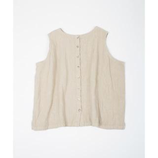 ネストローブ(nest Robe)のネストローブ リネンキャンバス2wayベスト(シャツ/ブラウス(半袖/袖なし))
