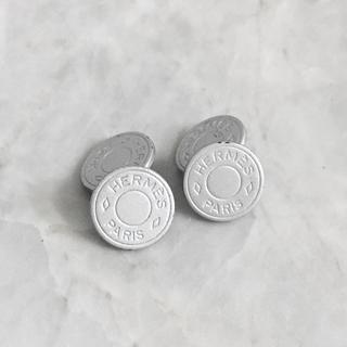 Hermes - 正規品 エルメス カフス セリエ シルバー チェーン 丸 コイン 銀 ボタン