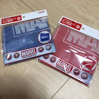 マーベル(MARVEL)のMARVEL デザイン ハンドタオル 青赤 2枚 セット キリンビバレッジ(タオル)