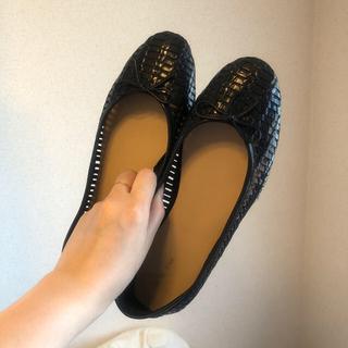 イエナスローブ(IENA SLOBE)の本革ブラックくつ(ローファー/革靴)