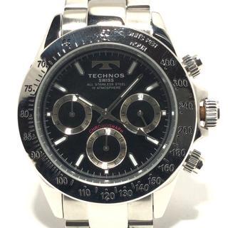 テクノス(TECHNOS)のテクノス 腕時計 TGM615 メンズ 黒(その他)