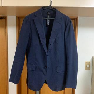 ワンエルディーケーセレクト(1LDK SELECT)のTEATORA Device Jacket 夏用 シアサッカー 紺 46(テーラードジャケット)