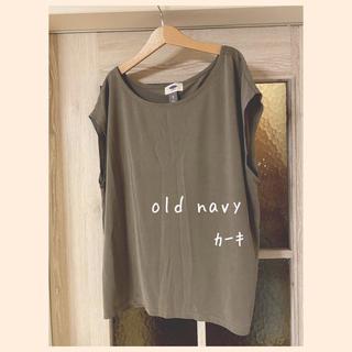 オールドネイビー(Old Navy)のold navy♥ 二の腕ほっそり見え! カーキ フレンチスリーブT(Tシャツ(半袖/袖なし))