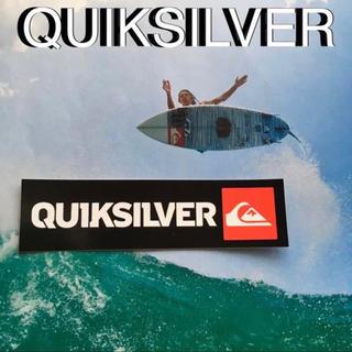 クイックシルバー(QUIKSILVER)のQUIKSILVERクイック US限定 logoアイコンバナー ステッカー(サーフィン)