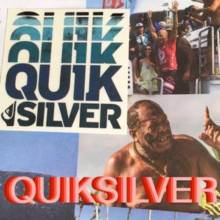 クイックシルバー(QUIKSILVER)のQUIKSILVERクイックUS限定 グラデーション ロゴ ステッカー ラス2(サーフィン)