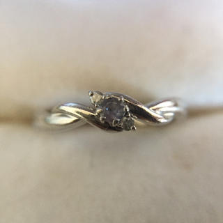 鑑定済み Pt900 ダイヤ 指輪  総重量3.2g(リング(指輪))