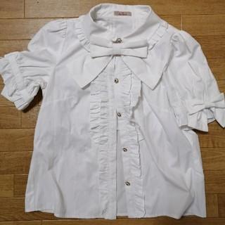 アマベル(Amavel)のアマベル リボンタイつきブラウス(シャツ/ブラウス(半袖/袖なし))