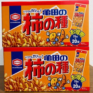 カメダセイカ(亀田製菓)の亀田製菓 柿の種 お徳用 75g20袋 2箱(菓子/デザート)