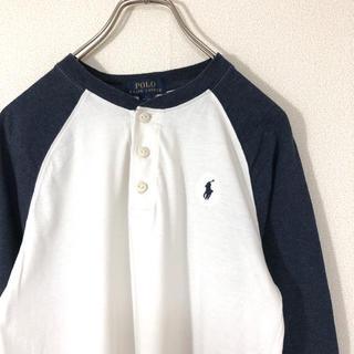 ポロラルフローレン(POLO RALPH LAUREN)のPolo Ralph Lauren ラグラン ヘンリーネック 刺繍 長袖 古着(Tシャツ(長袖/七分))