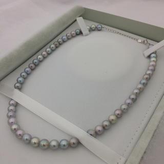 パール(pearl)のアコヤ真珠 グレーパール パールネックレス 7.0〜7.5ミリ(ネックレス)