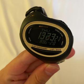 セイコー(SEIKO)のランニングウォッチ 時計 SEIKO SOMA ブラック WJ08-4000(陸上競技)