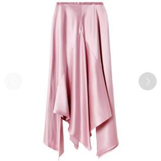ルシェルブルー(LE CIEL BLEU)のルシェルブルー サテンスカート ピンク(ひざ丈スカート)