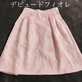 デビュードフィオレ(Debut de Fiore)のデビュードフィオレ スカート ピンク 花 レッセパッセ ミッシュマッシュ(ひざ丈スカート)