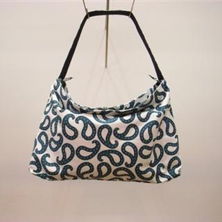 サンシー(SUNSEA)のURU PAISLEY SHOULDER BAG BLUE(ショルダーバッグ)