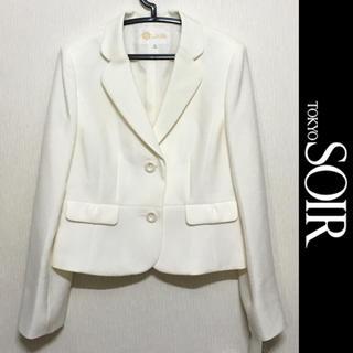 ソワール(SOIR)のTOKYO SOIR ジャケット 東京ソワール 新品未使用 オフホワイト 11号(テーラードジャケット)