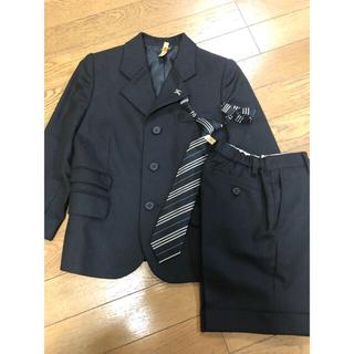 バーバリー(BURBERRY)の美品 バーバリー ピンバッジ付 スーツ ネクタイ付 上下 110(ドレス/フォーマル)