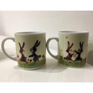 フェリシモ(FELISSIMO)のフェリシモ ウサギのペアマグカップ(グラス/カップ)
