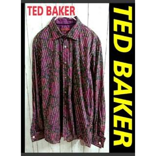 テッドベイカー(TED BAKER)のTED BAKER テッドベイカー ストライプ & ペイズリー 柄シャツ(シャツ)
